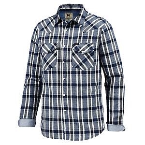 Lee Langarmhemd Herren blau/weiß