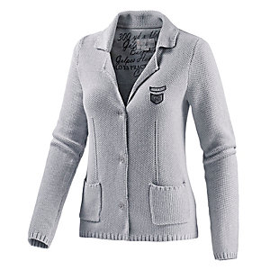 TOM TAILOR Strickjacke Damen hellgrau