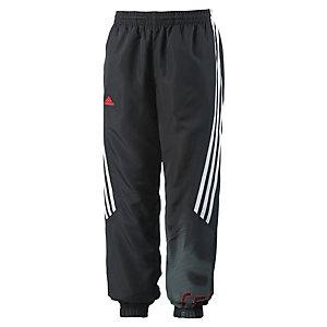 adidas Trainingshose Jungen schwarz/weiß/neonrot