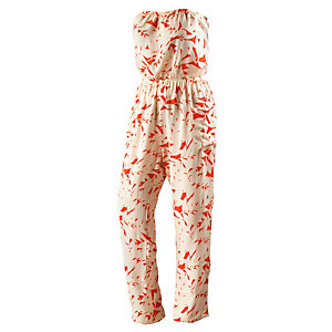 Roxy Funnel of Love Jumpsuit Damen weiß/rot
