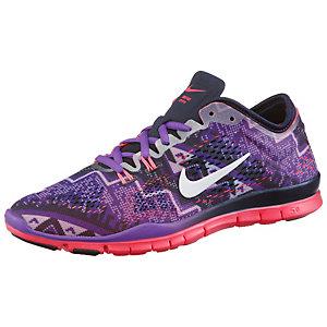 Nike Free 5.0 Trainer Fit 4 Fitnessschuhe Damen lila/neonrot