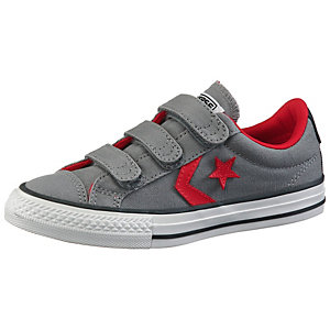 CONVERSE Star Player EV 3V Sneaker Kinder grau/rot