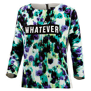 TOM TAILOR Sweatshirt Damen blau/weiß/grün