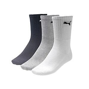 PUMA Sportsocken weiß/grau/schwarz