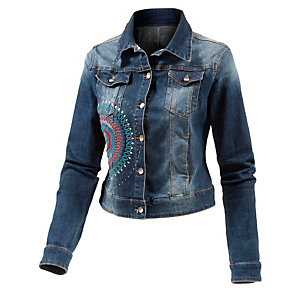 desigual jeansjacke damen denim im online shop von sportscheck kaufen. Black Bedroom Furniture Sets. Home Design Ideas