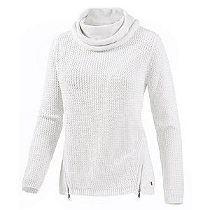 TOM TAILOR Sweatshirt, weiß M Strickpullover Damen weiß