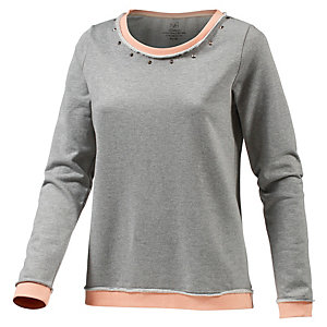 Neighborhood Sweatshirt Damen Hellgrau Melange