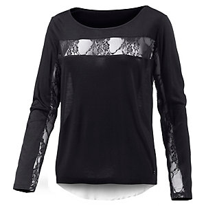 Neighborhood Langarmshirt Damen schwarz