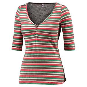 Blutsgeschwister Layerlangarmshirt Damen grün/rot/grau