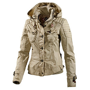 khujo austin biker jacke damen beige im online shop von. Black Bedroom Furniture Sets. Home Design Ideas