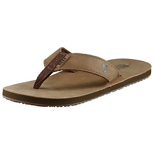 Reef Leather Smoothy Zehensandalen Herren hellbraun