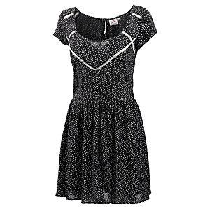 Maui Wowie Kurzarmkleid Damen schwarz/weiß