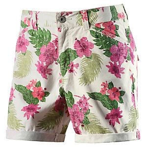 TOM TAILOR Shorts Damen weiß/grau