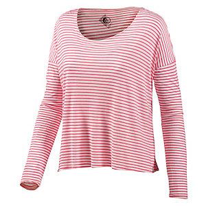 Volcom Lived In Stripe Langarmshirt Damen pink/weiß