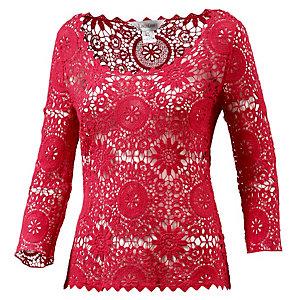LingaDore Langarmshirt Damen rot