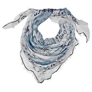 Maison Scotch Schal Damen weiß/blau