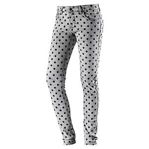 nümph Skinny Fit Jeans Damen grau/schwarz