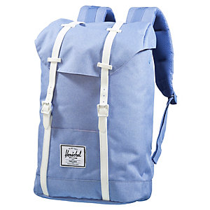 Herschel Rucksack Retreat Daypack chambray crosshatch/white rubber