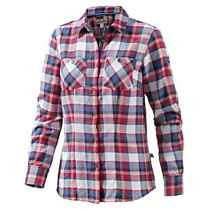 OCK Ladies Cotton Flanel shirt Langarmbluse Damen rot
