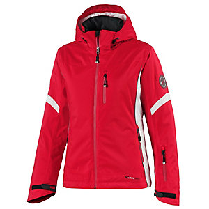 White Season Skijacke Damen rot/weiß