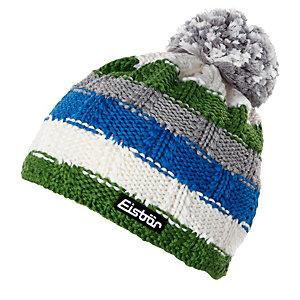 Eisbär Hedi Bommelmütze weiß/grün/blau