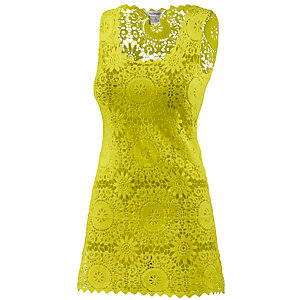 LingaDore Croched Dress Kurzarmkleid Damen lime