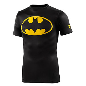 Under Armour alter ego batman Kompressionsshirt Herren schwarz