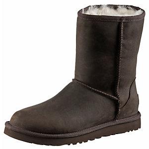 Ugg Australia Classic Short Leather Stiefel Damen dunkelbraun