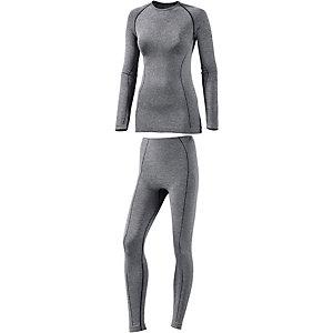 Medico Wäscheset Damen graumelange/schwarz