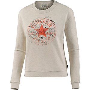 CONVERSE Sweatshirt Damen offwhite