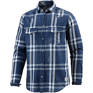 Jack & Jones Langarmhemd Herren blau/weiß