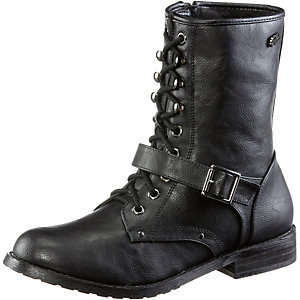 Buffalo Schnürstiefel Damen schwarz