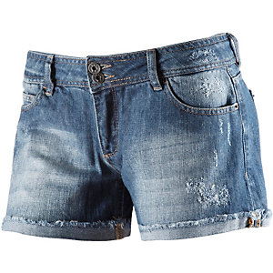 Neighborhood Jeansshorts Damen destroyed denim