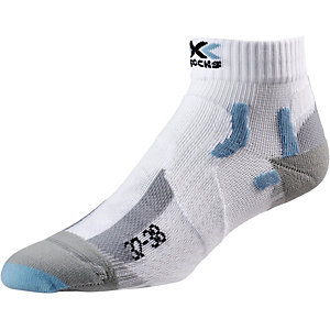 X-SOCKS Marathon Laufsocken Damen weiß/hellblau