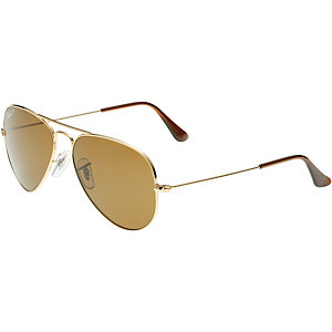 RAY-BAN Aviator 0RB3025 001/57 55 polarized Sonnenbrille gold/braun