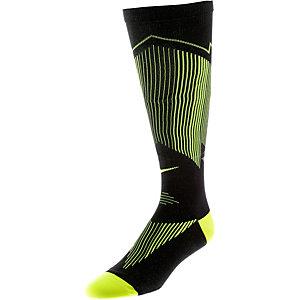 Nike Kompressionsstrümpfe schwarz/limette