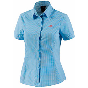 adidas Check Funktionsbluse Damen blau
