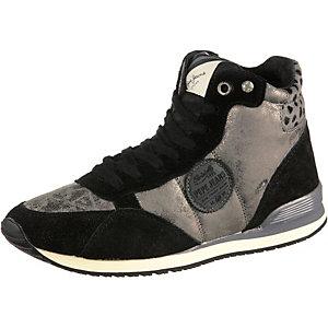 Pepe Jeans Sneaker Damen schwarz/silberfarben