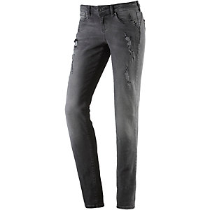 TOM TAILOR Skinny Fit Jeans Damen destroyed denim