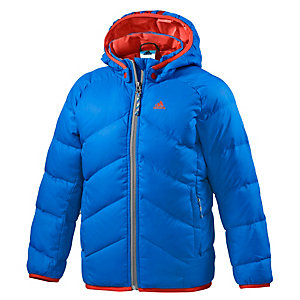 adidas Steppjacke Jungen blau/orange