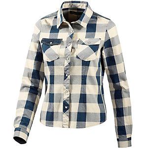 BLEND Langarmhemd Damen offwhite/blau