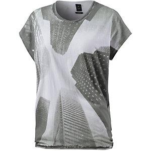 REPLAY Printshirt Damen weiß/schwarz