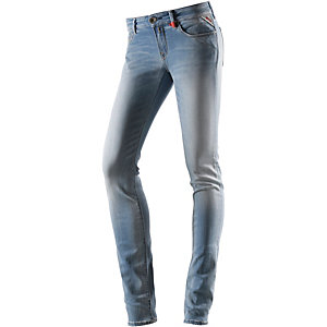 REPLAY Luz Skinny Fit Jeans Damen light denim