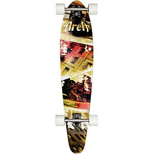 """AREA 42"""" Brooklyn Stepz Longboard-Komplettset grün/rot"""