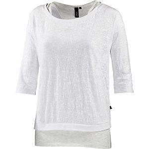 S.OLIVER 2-in-1 Langarmshirt Damen weiß/grau