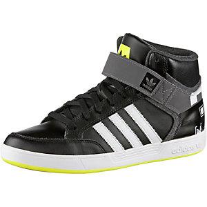 Knöchelhoher Sneaker mit Klettriegel schwarz