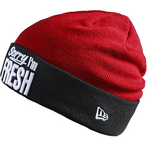 New Era Fresh Knit Beanie rot/schwarz