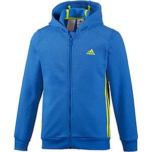 adidas Sweatjacke Jungen blau/neongrün