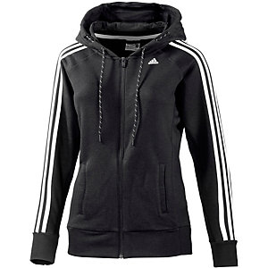 adidas essential sweatjacke damen schwarz wei im online. Black Bedroom Furniture Sets. Home Design Ideas
