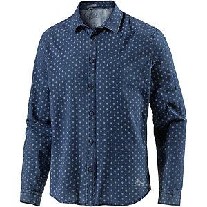 Pepe Jeans Langarmhemd Herren blau